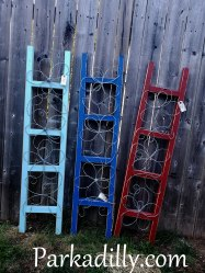 Parkadilly Ladders Available for $60 Each One of a kind, hand twisted and made with love! To purchase one of our original designs comment SOLD on the photo of the piece that has caught your eye and email Parkadilly@live.ca to complete your order. Local pick up available in Cobourg, Ontario Shipping available throughout Canada and the US - Pricing is based on the specific piece - its size weight and final destination. Parkadilly Artwork is protected under copyright law. Do not attempt to duplicate my original designs, edit the photos or remove the website watermarkOne of a kind, hand twisted and made with love!
